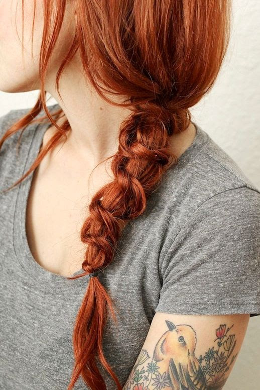 8 Le Fashion Blog 21 Braid Ideas For Long Hair Redhead Twisted Knot Side Braided Ponytail Hairstyle Via A Beautiful Mess