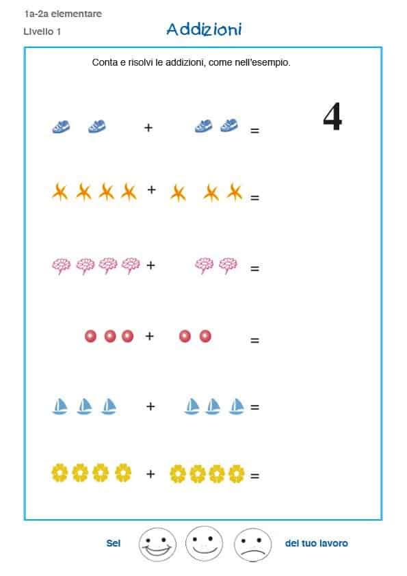 Matematica prima elementare, esercizi e problemi - schede ...