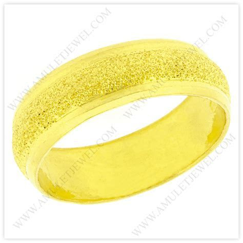 Yellow Gold Wedding Bands for Men, Women from Thailand