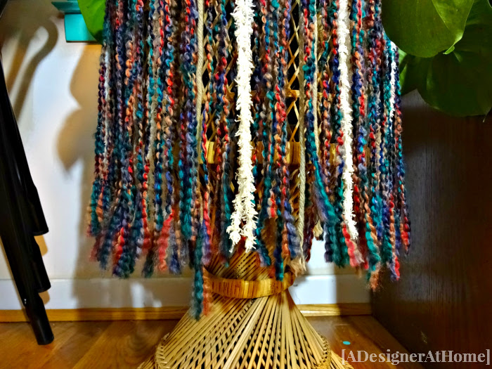 multi colored rasta inspired yarn skirt