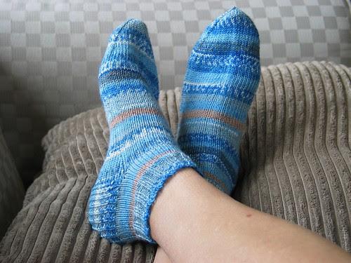 blue ankle sox