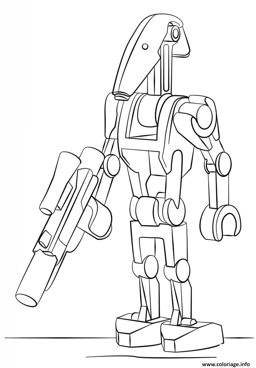 Coloriage Lego Star Wars Battle Droid Jecoloriecom
