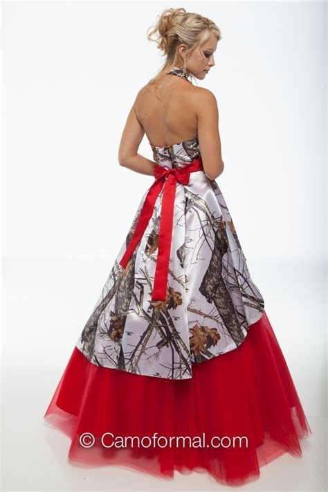 3659M Camo Ball Gown over Circle Net Skirt Camouflage Prom