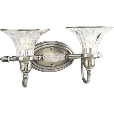 Crystal Glass Shades Vanity Light | Wayfair