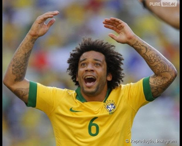 Marcelo tem várias tatuagens no braço