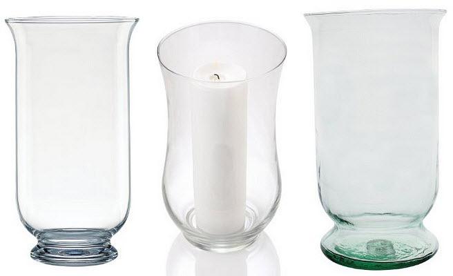 Large glass hurricane candle holder - FindaBuy