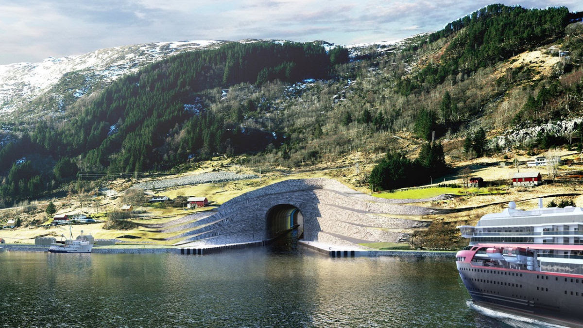 Noruega construirá o primeiro túnel para navios de carga do mundo