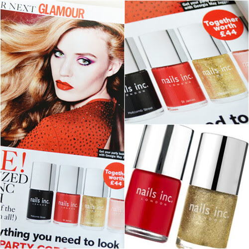 Glamour mag November 2012 Nails Inc polishes