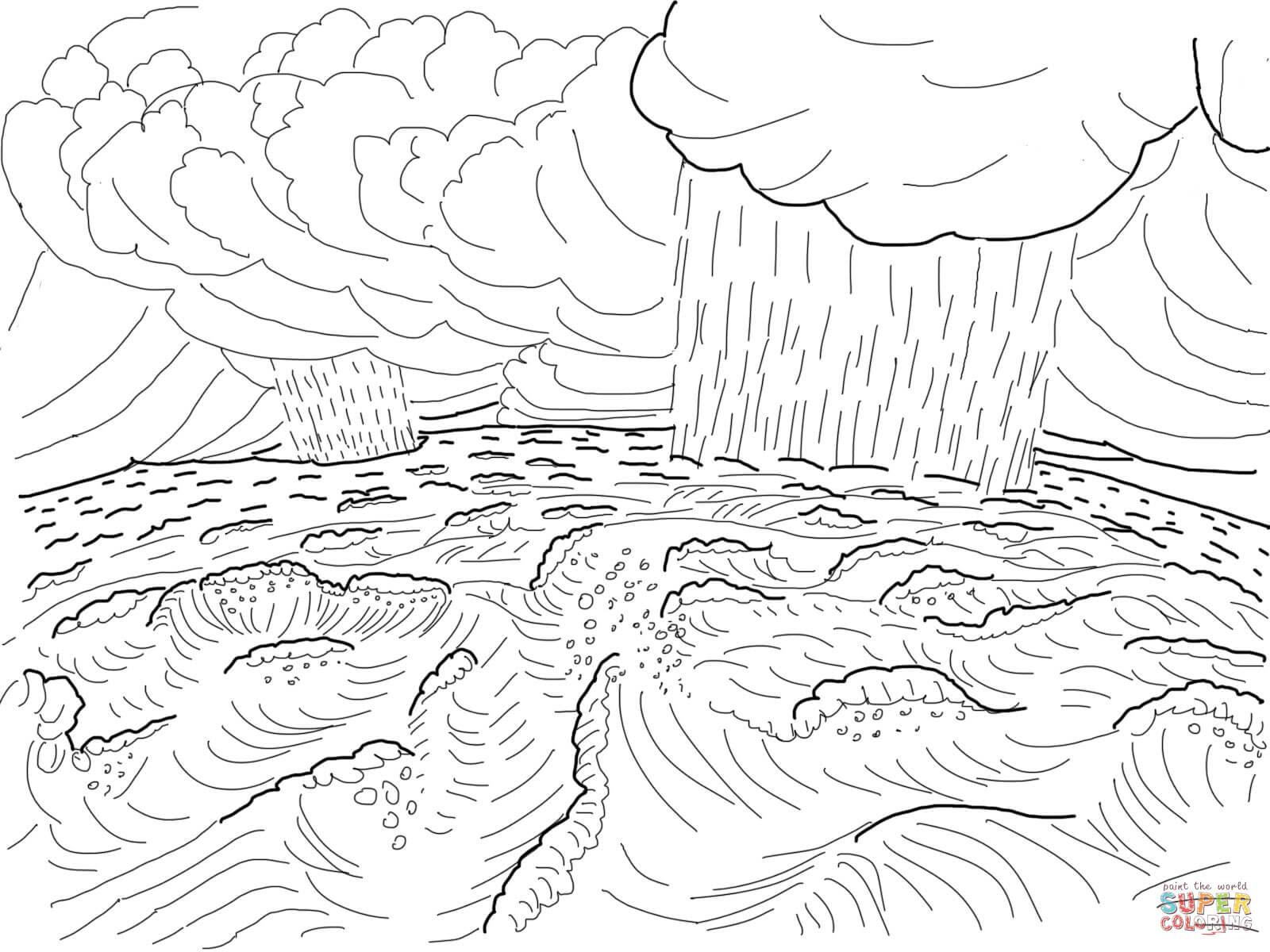 Dibujo De Segundo Día De La Creación Para Colorear Dibujos Para