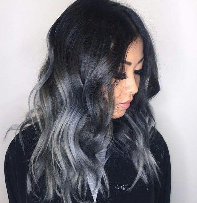 Silver Grey Ombre Hair Color