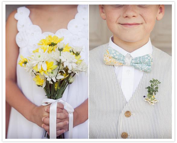 adorable flower girl and ring bearer