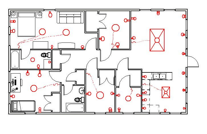 autocad house electrical drawings: house wiring diagram in  autocadrh:svlc us,design