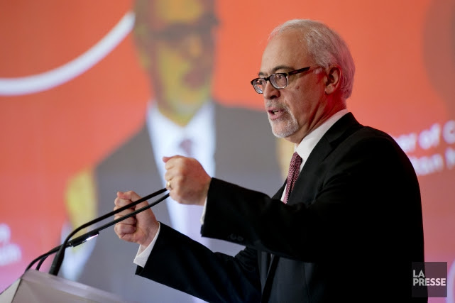 Le ministre des Finances Carlos Leitao a prononcé son... (Photo David Boily, La Presse)