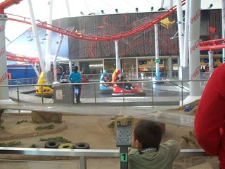 Indoor roller coaster inside the mall