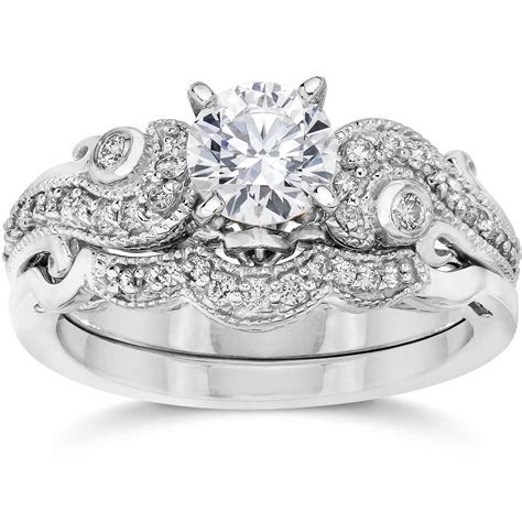 Emery 3/4Ct Vintage Diamond Filigree Engagement Wedding