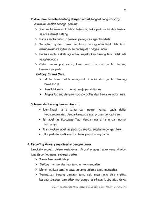 SMK Pariwisata Baitul Hamdi Banten panduan materi layanan