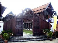 Traditional Terengganu Malay wooden houses