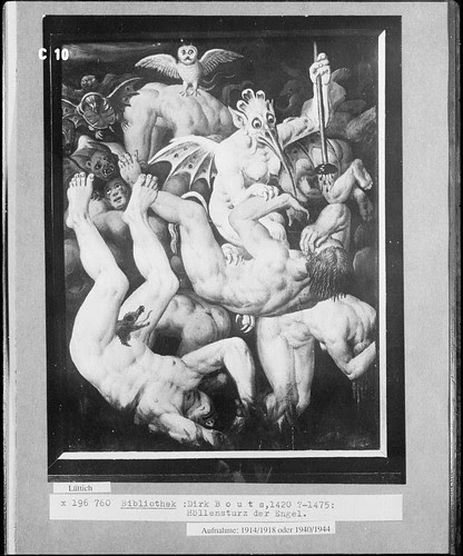 Höllensturz der drei Engel - Dierick Bouts - 1415 (bildinex.de)