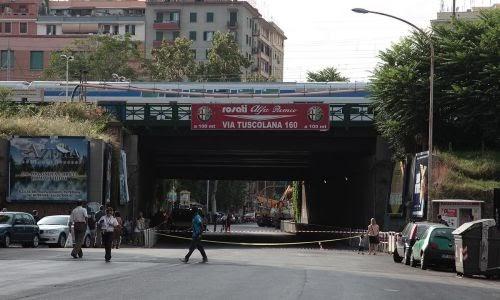 Roma Trasporti News - Lavori Tuscolana altezza ponte ferroviario, dal 3 al 7 agosto