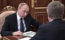 Навстрече спредседателем правления компании «НОВАТЭК» Леонидом Михельсоном.
