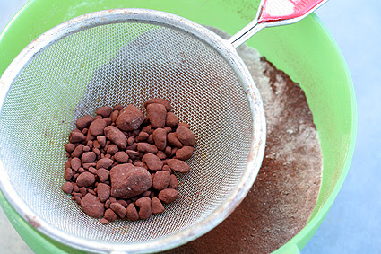 Sifting for Devil's Food Cake