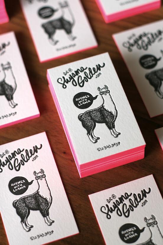 Letterpress Businesscard by Shyama via shynanigans, graphic design, businesscard inspiration, illustration, typography inspiration, letterpress design