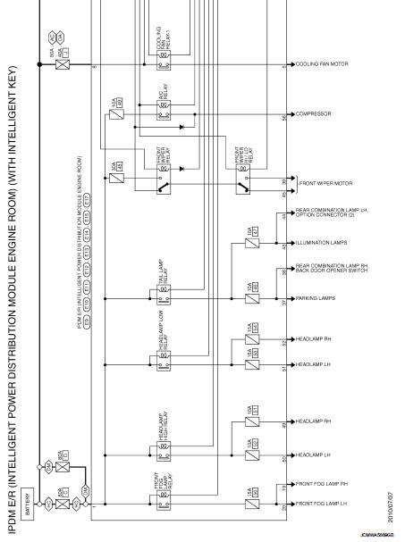 Wiring Diagram Power Control System Ipdm E R With I Key Nissan Juke Service And Repair Manual