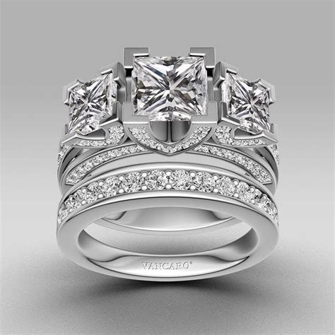 princess cut  sterling silver womens  stone