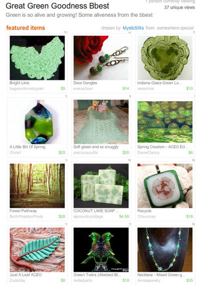 Great Green Goodness Bbest Treasury