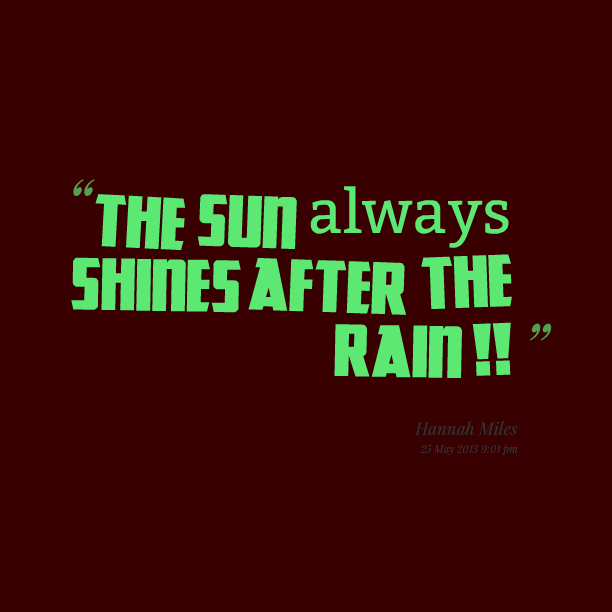 After The Rain Quotes Wwwpicswecom