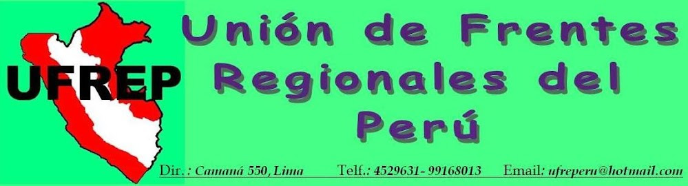 UFREP Union de Frentes Regionales del Peru