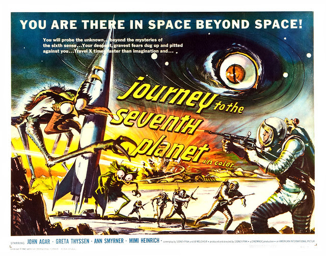 Journey to the Seventh Planet (American International, 1961) Half Sheet