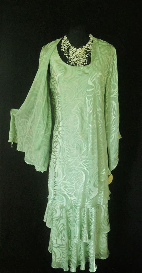 New CATTIVA Green Pearl Wedding Outfit Size 14 Dress and