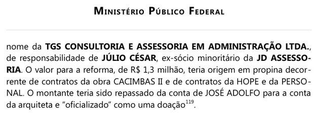 MP relata que José Dirceu usou propina da Petrobras para pagar reforma de casa no interior de SP