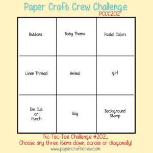 Paper Craft Crew Card Tic Tac Toe Challenge 202 #tictactoe #challengeblog #pcc #papercraftcrew