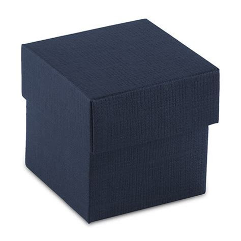 Navy Blue Favor Box with Lid   Weddingstar