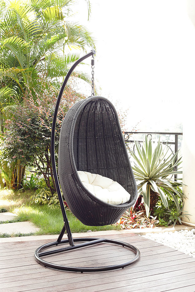 Garden Rattan Swing Chair-Outdoor Hanging Egg Chair (BZ-W002 ...