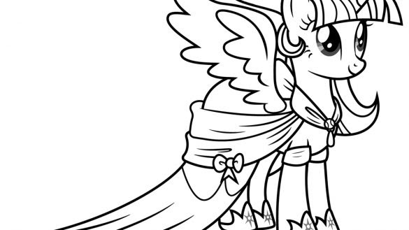 My Little Pony Princess Twilight Sparkle Coloring Pages At