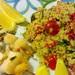 Spiedini di pollo grigliato e couscous
