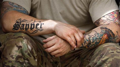 inked brigade uk army lifts ban hand neck tattoos