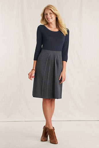 Women's Two-tone Sweater Dress - True Navy/Charcoal Heather, S