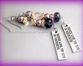Dance like no one is watching purple dance earrings