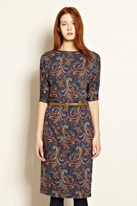 Warehouse Paisley Print Dress