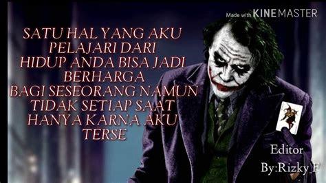Kata Bijak Joker Batman Kata Kata Indonesia