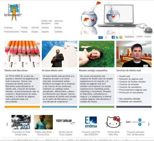 Te dejamos nuestra página web para que nos visites. Ir a La Teva Web diseño web Barcelona, esperamos que os guste!
