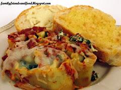 Spinach Lasagna Pinwheels