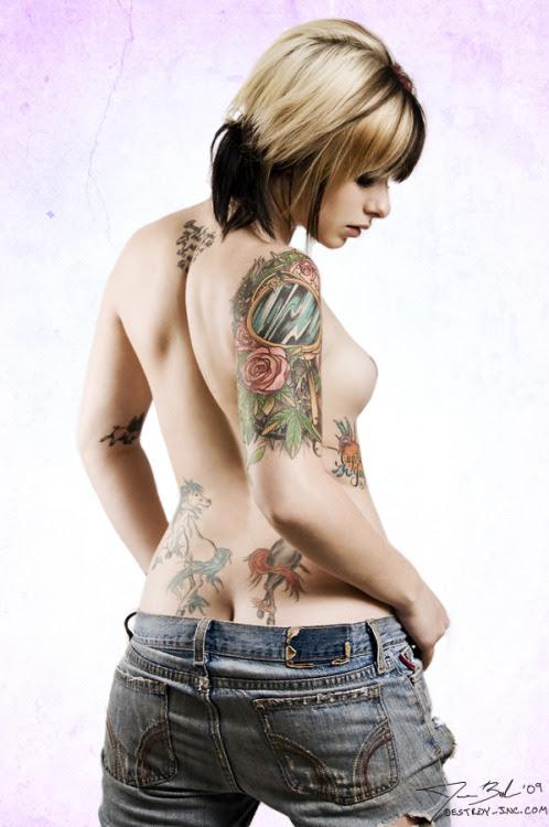tattooed girl
