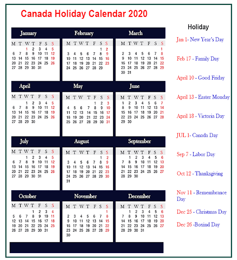 Free Excel 2020 Yearly Calendar Template