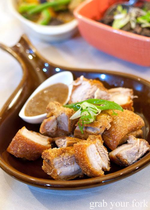 lechon roast pork at lamesa phillipine cuisine haymarket chinatown