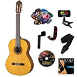 Yamaha CG162S Classical Guitar BUNDLE w/ Legacy Accessory Kit (Tuner, DVD, Picks, Capo and More)